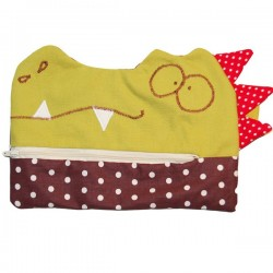 trousse plate crocodile
