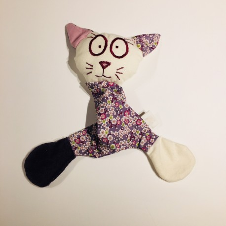 doudou chat en coton bio