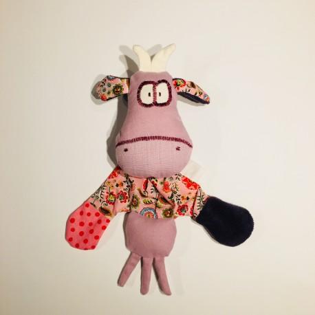 doudou vache en coton biologique
